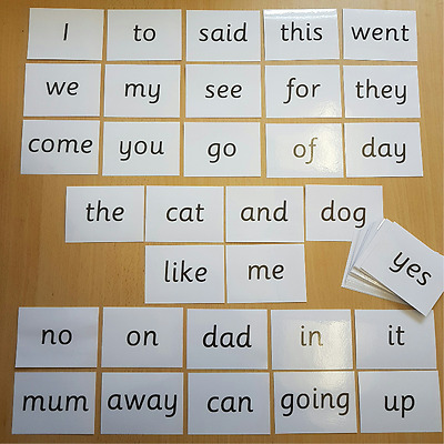 Reception Class First Words 54 Flash cards  EYFS, Poster, Display, Educational x