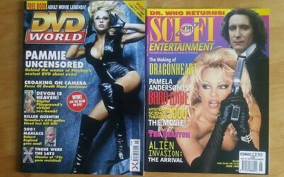 Pamela Anderson X2 Magazines Immaculate DVD World issue15 & Sci Fi(usa)June 1996