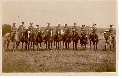 Original WW1 British Soldiers Group Photo. Possibly Artists Rifles
