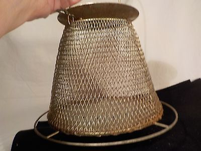 Vintage Live Cricket Grasshopper Bait Wire Mesh Metal Fishing Cage (Collasible)