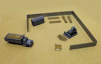 Outland Models Railway Construction Site Accessories and Vehicles Set Z Gauge