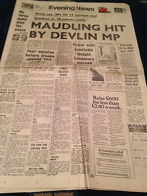 Vintage Evening News 31.1.72 Londoners Warned Of Power Cuts