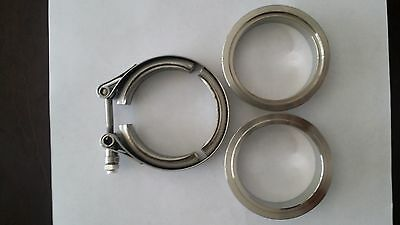 3.5 Stainless Steel Vband Clamp CNC Kit male female flange
