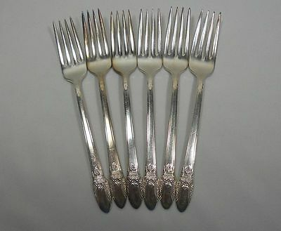 International Silver First Love Silverplate Set of 6 Forks (7 3/4 inch)