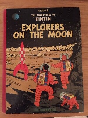 Tintin Explorers On The Moon, First Edition