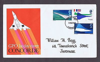 GB First day cover 1969 Concorde -Inverness FDI Postmark.