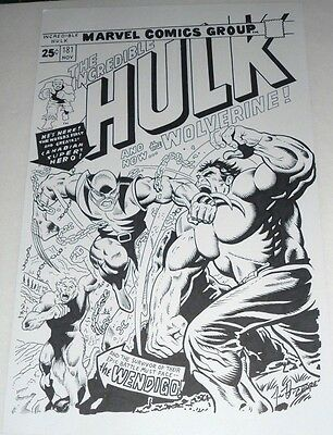 The Incredible Hulk #181  Original Art Cover  .by Jesse Hansen . 11X17