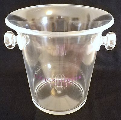 Louis Roederer Champagne Bucket-Transparent Plastic-Striking-Great Condition!!!