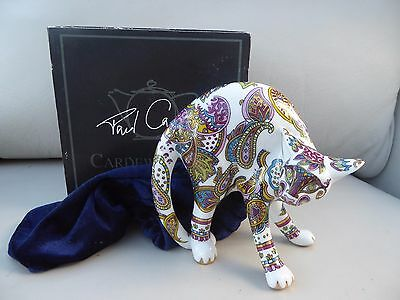 paul cardew cool catz china paisley cat blue boxed