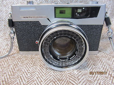 Vintage Petri 7 S Camera In Leather Case - For Display
