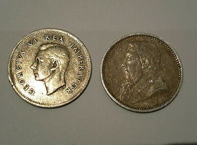 1897 and 1941 George VI South Africa Silver 3 Pence