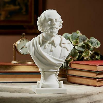 """Sculptural Bonded Marble Bust Of """"fine Literature"""" William Shakespeare0"""