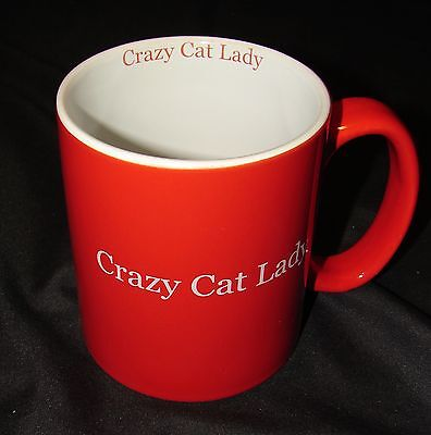 Hausenware CRAZY CAT LADY Orange 32 Ounce Ceramic Coffee Mug Tea Cup