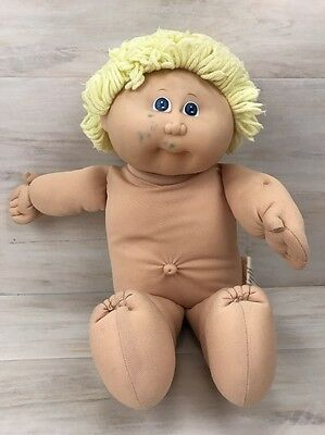 """Vintage 1982 CPK Cabbage Patch Kids Boy Doll Blonde Hair Blue Eyes Coleco 16"""""""