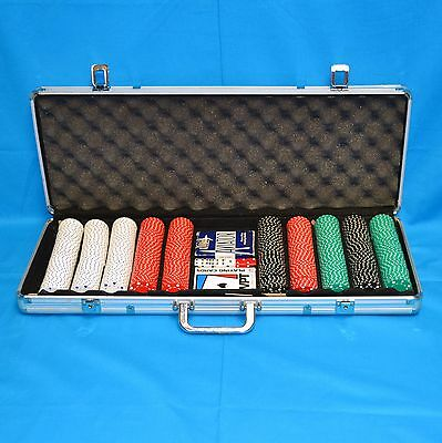 600pc Poker Chip Set with Aluminum Case & World Poker Tour Playing Cards
