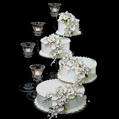 4 Tier Extra Large CASCADE WEDDING PARTY CAKE STAND