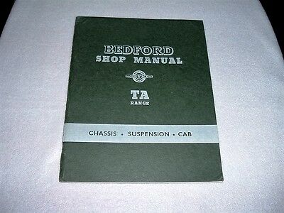 Bedford Shop Manual TS329/1   Chassis - Suspension - Cab   1953