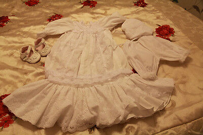 Reborn  baby chritening outfit 0.3 m