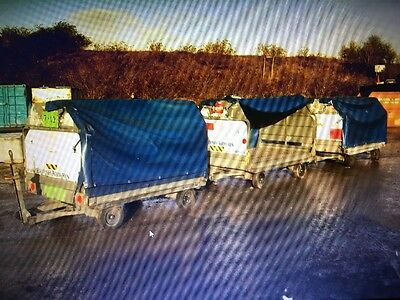 Viking Baggage trailers twin axle with canopy 2 ton capacity choice of 15