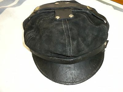 Old School Leather  Harley hat 1970s  Made in USA
