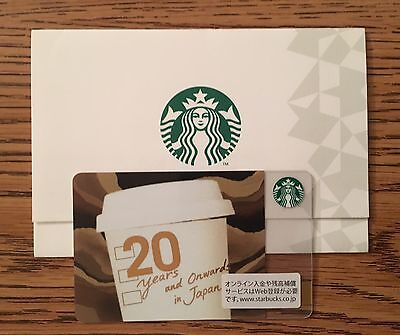 Starbucks 2016 Japan 20th Anniversary Card Limited Edition with sleeve