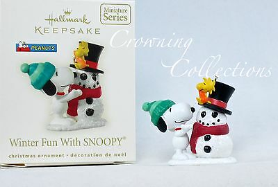2008 Hallmark Winter Fun With Snoopy Ornament 11th in Series #11 Snowman Peanuts