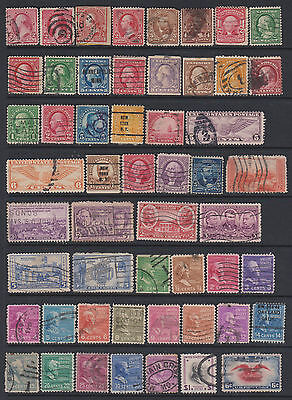 USA - from earlies - Collection of 213 mint & used stamps - on 6 pages