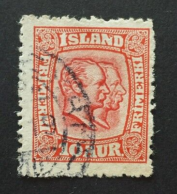 Iceland 1907 4 Aur With Printing Flaw. See Photo