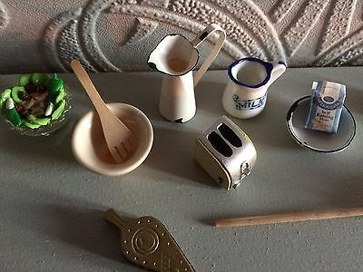 12th scale  job lot mixed  items(GGG) dolls house mixed items reduced