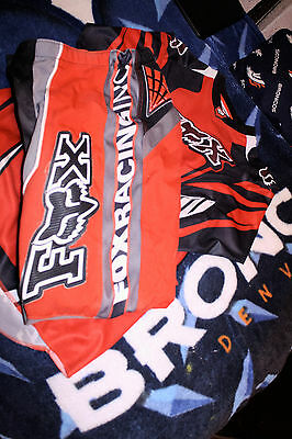 Fox Racing Motocross Adult Combo Set Pants size 30, Jersey Small Red NICE