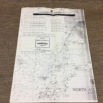 Cunard Qe2, cruise memorabilia - Route Map - Plans - Start Collecting -