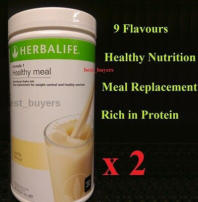 Herbalife 2x  Formula 1 Meal Replacement Shake 550g - 9 Flavours -  UK