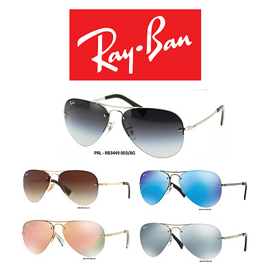 Ray-Ban Sunglasses RB3449 Series Iconic Aviator (100% New & Authentic)