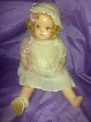 """Vintage Large Composition Baby Doll Unmarked 19"""""""