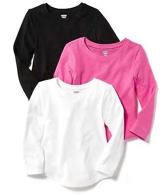 Old Navy Toddler Girl's LONG SLEEVE Top / Shirt Size 5T PINK NEW