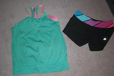 Lot of Girls Ivivva by Lululemon Luon Shorts and Tank Top sz 14