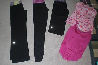 Lot of 2 Girls Ivivva by Lululemon Pants, Crops, Onesie and Tank Top sz 14