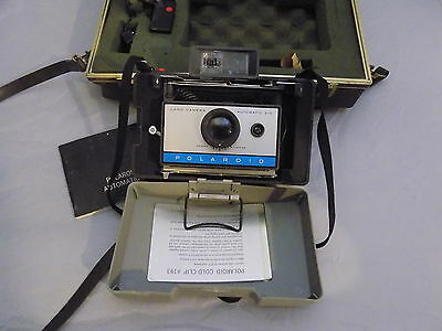 Polaroid 210 Land Camera with Case & Flash