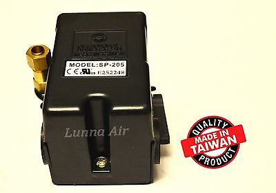 Heavy Duty Pressure Switch for Air Compressor 25 Amp 140-175 PSI 1 Port