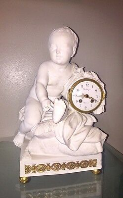 18th Cent Antique Balthazar Vincenti French Sevres Madame Royale Biscuit Clock