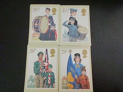 Lot of Great Britain PHQ Cards (40 Total Dups) 1982 Topic Youth Organisations