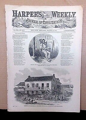 Gettysburg, Civil War Harper's Weekly Aug 22,1863 Full Issue, Cavalry Officers