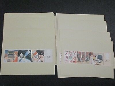 Lot of Great Britain PHQ Cards (20 Total Dups) 1982 Topic: Info Technology