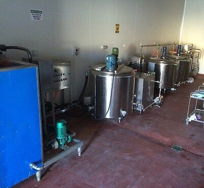 Ice Cream, Cheese, And/or Yougart Production Line One Ton A Day