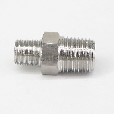 """1/8"""" BSP Male to 1/4"""" BSP Male 304 Stainless Steel Pipe Fittings Connectors"""