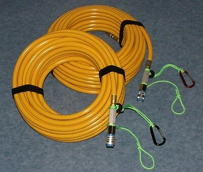 2- 50' quick connect Hookah Filtered air breathing dive hoses. Sale ends Soon