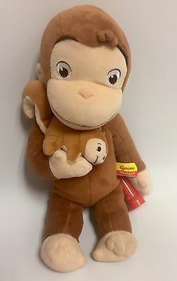"""Curious George With Squirrel Plush 14"""""""