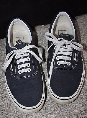 Vans Black Sneakers Size Men's 7.5/Ladie's 9