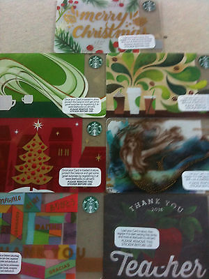 7 x UNITED KINGDOM Starbucks,,new gift cards as scan