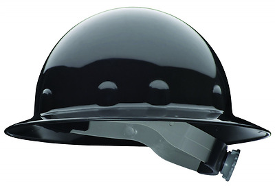Fibre-Metal by Honeywell Super Eight Full Brim Ratchet Hard Hat, Black